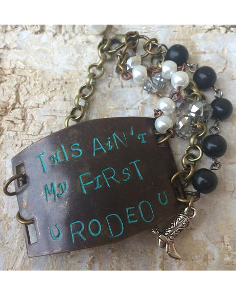 2 Queen B's This Ain't My First Rodeo Large Bracelet