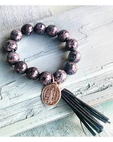 Jewelry Junkie Black Labradorite Beaded Bracelet