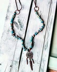 Jewelry Junkie Dream Catcher Necklace on Imperial Jasper Beaded Necklace