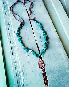 Jewelry Junkie Indian Head on Aftrican Turquoise Necklace