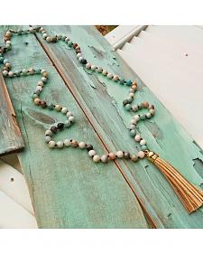 "Jewelry Junkie Amazonite Knotted 42"" Necklace"