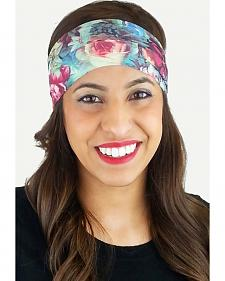 Pink Pewter Flower Stretch Sports Wrap