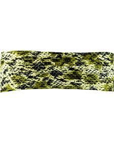 Pink Pewter Snake Print Stretch Sports Wrap