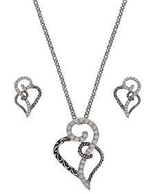 Montana Silversmiths Woven Hearts Jewelry Set