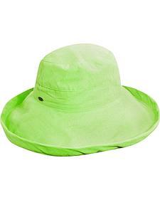 Scala Women's Mint Cotton Wide Brim Sun Hat
