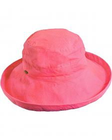 Scala Women's Salmon Cotton Wide Brim Sun Hat