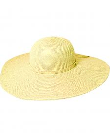 Scala Women's Toast Big Brim Paper Sun Hat