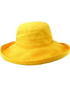 Scala Women's Banana Cotton Wide Brim Sun Hat