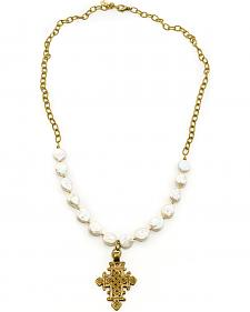 Julio Designs Do�a Fortuna Wallflower Pearl Necklace