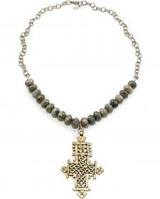 Julio Designs Doña Fortuna Wallflower Labradorite Necklace