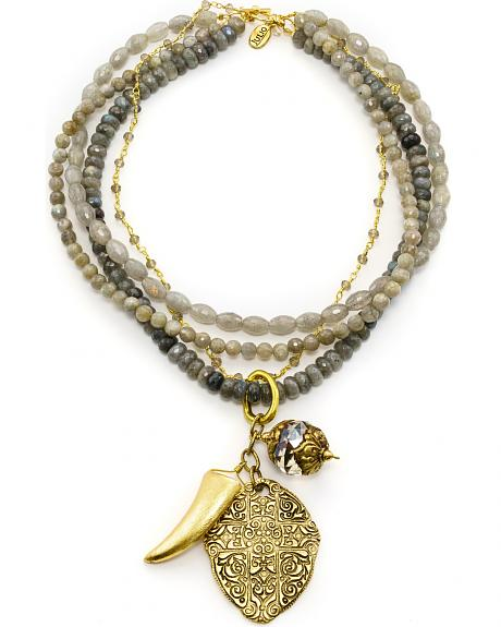 Julio Designs Doña Fortuna Butterfly Labradorite Necklace