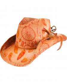 Peter Grimm Orange Dreamcatcher Cowgirl Hat