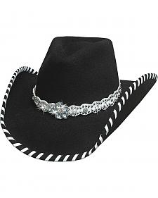 Bullhide Hats Women's Black See You Again Wool Felt Cowboy Hat