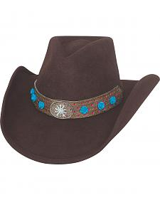 Bullhide Hats Women's Chocolate Brown Thinkin' Problem Wool Felt Cowboy Hat