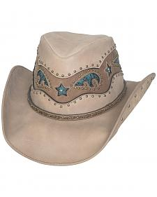 Bullhide Women's Worth It Leather Cowboy Hat