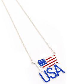 Ethel & Myrtle American Spirit Flag Necklace