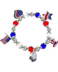 Ethel & Myrtle Women's American Spirit Charm Stretch Bracelet