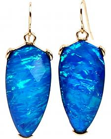Ethel & Myrtle Best of Show Blue Opal Crystal Teardrop Earrings