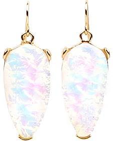 Ethel & Myrtle Best of Show White Opal Crystal Teardrop Earrings