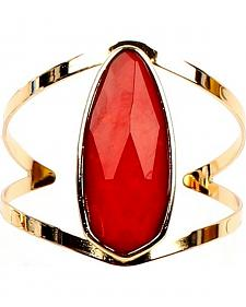 Ethel & Myrtle Best of Show Red Crystal Cuff Bracelet