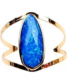 Ethel & Myrtle Best of Show Blue Opal Crystal Cuff Bracelet