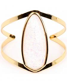 Ethel & Myrtle Best of Show White Opal Crystal Cuff Bracelet