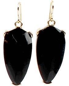 Ethel & Myrtle Best of Show Black Crystal Teardrop Earrings