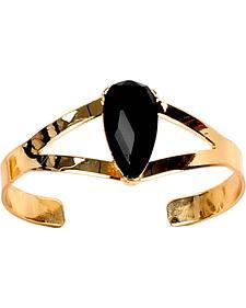 Ethel & Myrtle Best of Show Black Crystal Cuff Bracelet