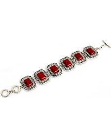 Ethel & Myrtle Red Toggle Bracelet