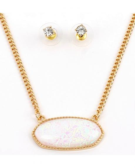 Ethel & Myrtle Best of Show White Opal Crystal Jewelry Set