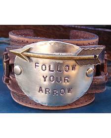 Jewelry Junkie Follow Your Arrow Leather Cuff