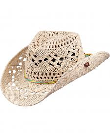 Peter Grimm Ariel Natural Straw Cowgirl Hat