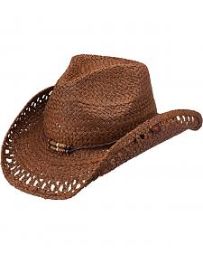 Peter Grimm Maxine Brown Straw Cowgirl Hat