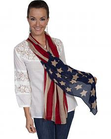Scully Women's American Flag Scarf