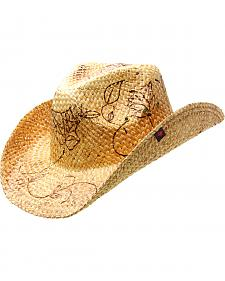Peter Grimm Burnt Roses Brown Cowgirl Hat