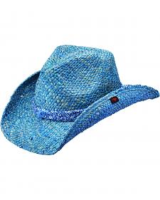 Peter Grimm Cotter Blue Bandana Blue Straw Cowgirl Hat