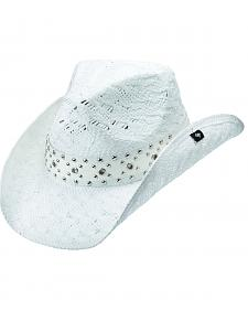 Peter Grimm Lithia Studded White Straw Cowgirl Hat