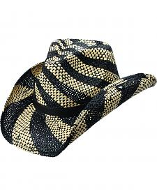 Peter Grimm Zaphara Black and White Striped Cowgirl Hat