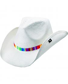 Peter Grimm Labyrinth Baja Band White Straw Cowgirl Hat