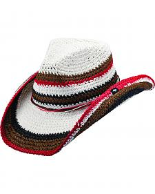 Peter Grimm Amal Striped Cowgirl Hat