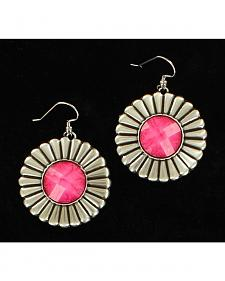 Blazin Roxx Engraved Round Drop Earrings