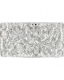 Nocona Women's Rectangle Crystal Scroll Buckle