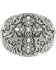 Nocona Women's Oval Cross Rhinestone Buckle