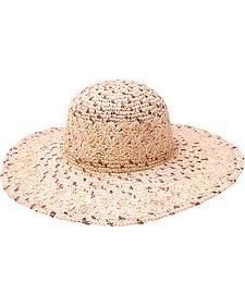 "Peter Grimm Boca 4 1/2"" Natural Raffia Straw Sun Hat"