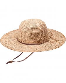 "Peter Grimm Ginko 4 1/4"" Natural Raffia Straw Sun Hat"