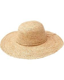 "Peter Grimm Hannah 4"" Raffia Straw Sun Hat"