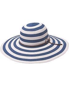 """Peter Grimm Women's Drew 5"""" Striped Resort Hat"""