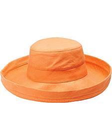 Peter Grimm Women's Aruba Orange Cotton Packable Resort Hat