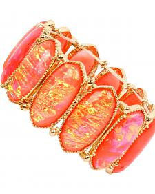 Ethel & Myrtle Best of Show Coral Opal Crystal Stretch Bracelet