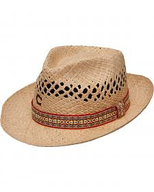 Charlie 1 Horse Women's Six String Straw Fedora Hat